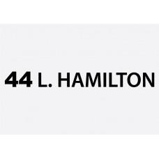44 L Hamilton Formula 1 Sticker