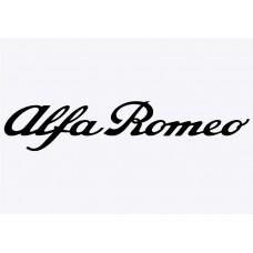 Alfa Script Vinyl Sticker