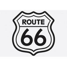 Bike Decal Sponsor Sticker - Route 66