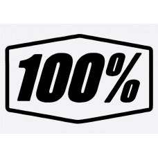 Bike Decal Sponsor Sticker -  100%