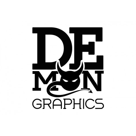 Demon Graphics Brand Sticker 1