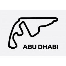 Abu Dhabi Track Formula 1 Sticker
