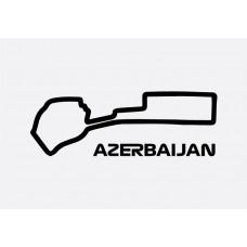 Azerbaijan Track Formula 1 Sticker