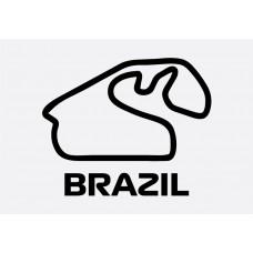 Brazil Track Formula 1 Sticker