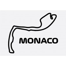 Monaco Track Formula 1 Sticker