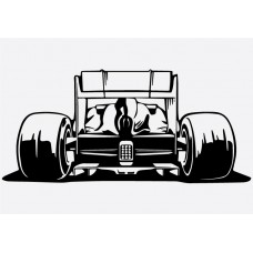 F1 Car Rear Formula 1 Sticker