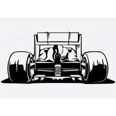 F1 Car Rear Formula 1 Sticker