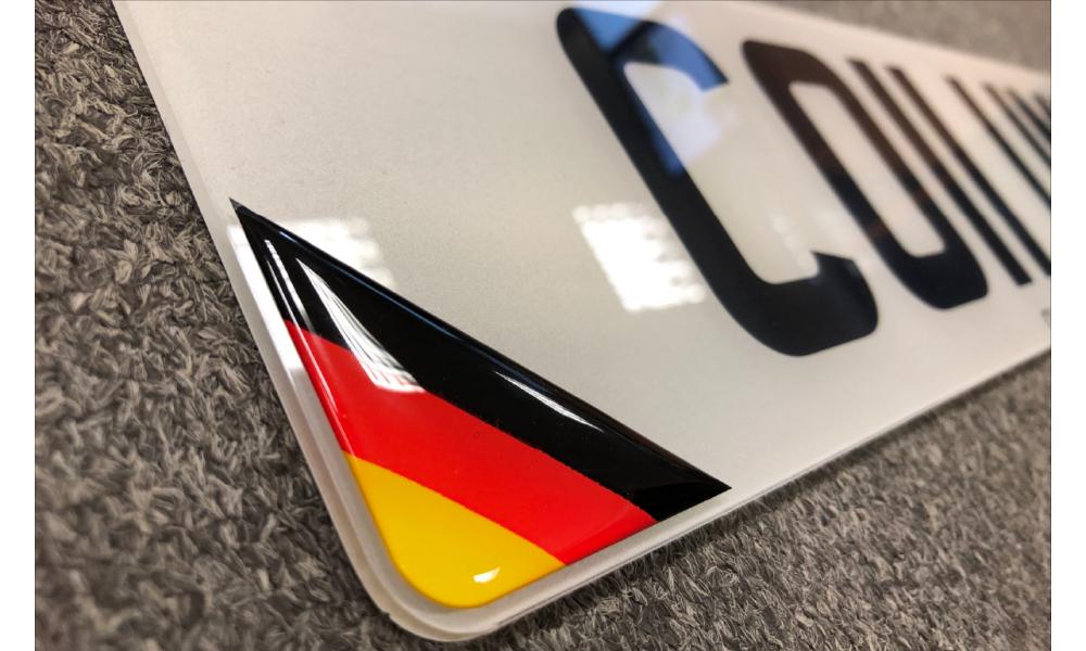 Domed Number Plate Badges