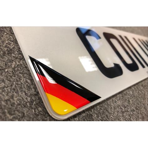 Domed Number Plates Badges
