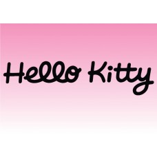 Hello Kitty Text vinyl sticker