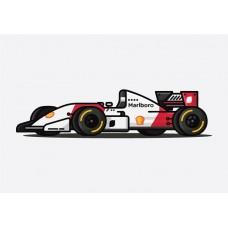 McLaren MP4 F1 Car Sticker