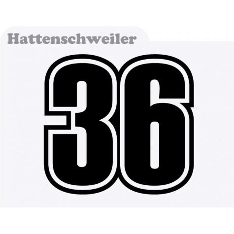 Motorbike Race Numbers (hattenschweiler)