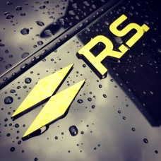 "Renault RS 3D Perspex Badge (From 5"")"