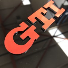 "VW GTI 3D Perspex Badge (From 5"")"