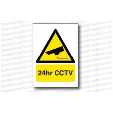 24hr CCTV Sticker or Sign