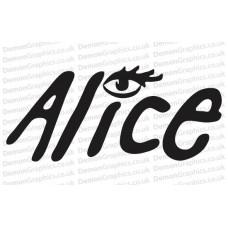 Bike Decal (Pair of) Alice