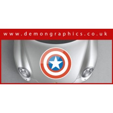 Bonnet Sticker - Captain America