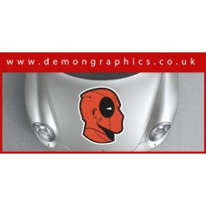 Bonnet Sticker - Deadpool Mask