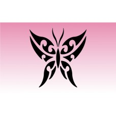 Butterfly Tribal 1 Girly Sticker