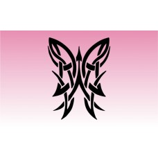 Butterfly Tribal 4 Girly Sticker