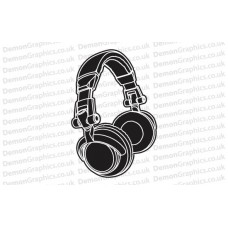 DJ Headphones Sticker