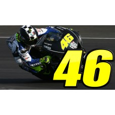 3D Domed Racing Numbers 2 Colours