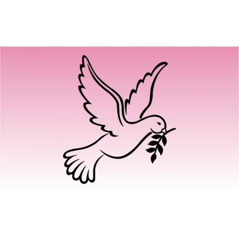 Dove Peace Girly Sticker