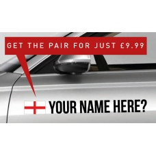 England Rally Tag £9.99 for both sides