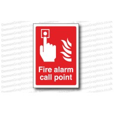 Fire Alarm Call Point Sticker or Sign