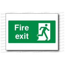 Fire Exit Sticker or Sign