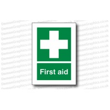 First Aid Sticker or Sign