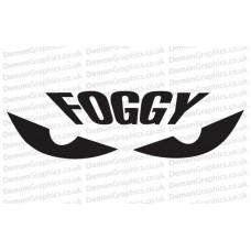 Bike Decal (Pair of) Foggy