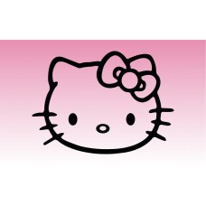 Hello Kitty 2 Girly Sticker