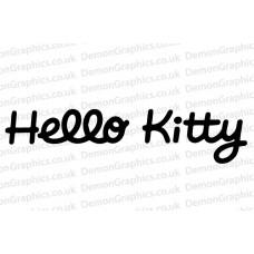 Hello Kitty Text vinyl sticker