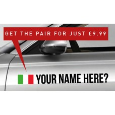 Italy Rally Tag £9.99 for both sides