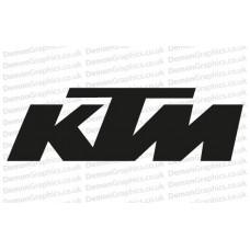 Bike Decal (Pair of) KTM 1
