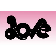 Love 1 Girly Sticker