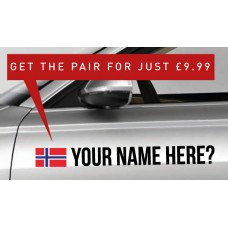 Norway Rally Tag £9.99 for both sides