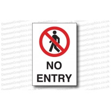No Entry Sticker or Sign