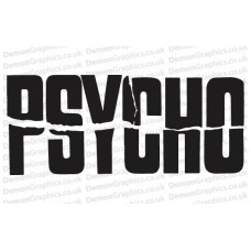 Hitchcock's Psycho Sticker