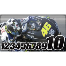 Racing Numbers 2 Colours