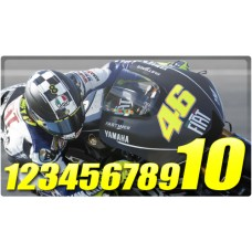 Racing Numbers 1 Colour
