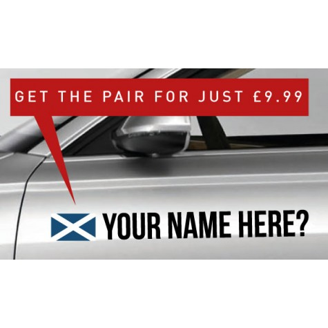 Scotland Rally Tag £9.99 for both sides