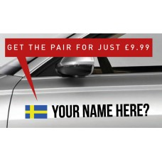 Sweden Rally Tag £9.99 for both sides