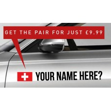 Switzerland Rally Tag £9.99 for both sides