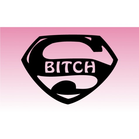 Super Bitch Girly Graphic