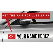 Turkey Rally Tag £9.99 for both sides