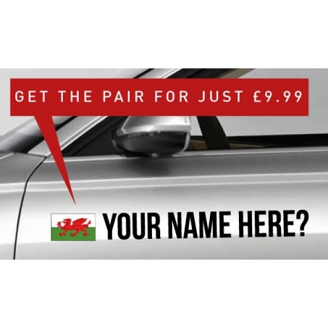 Wales Rally Tag £9.99 for both sides