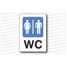WC Sticker or Sign