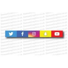 All Social Media Logos Sticker